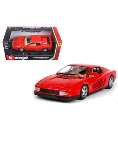 Ferrari Testarossa. Miniatura Metal Escala 1/24 (BBURAGO 26014). AUTO DIECAST BBURAGO 26014