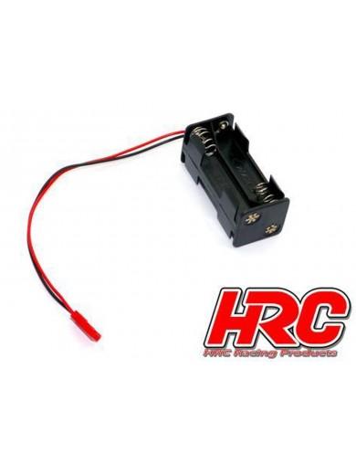 Portapilas AAA 4 Unidades con conector BEC HRC9273A Conectores, Cables y Adaptadores RC