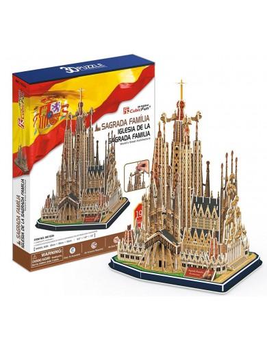 PUZZLE 3D Sagrada Familia Barcelona 194 piezas 2012052435 Puzzles y Rompecabezas