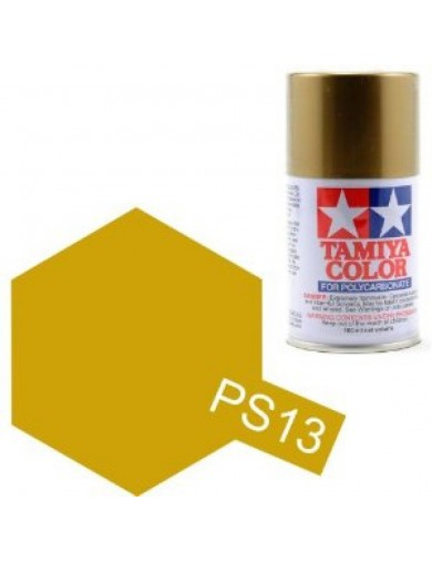 Pintura Policarbonato / Lexan PS-13 Color ORO / DORADO, para Carrocerías R/C (TAMIYA 86013) TAMIYA 86013 Pinturas Carrocerias...