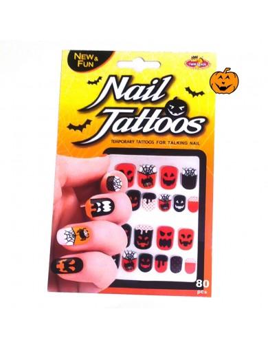 Pegatinas para Uñas Halloween. Nail TattoosAccesorios Disfraces y Maquillajes