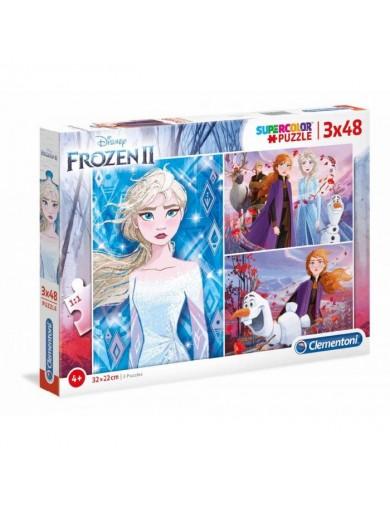 Frozen 3 puzzles 48 piezas, Elsa, Anna, Olaf. Puzzles clementoni 153379 Puzzles y Rompecabezas