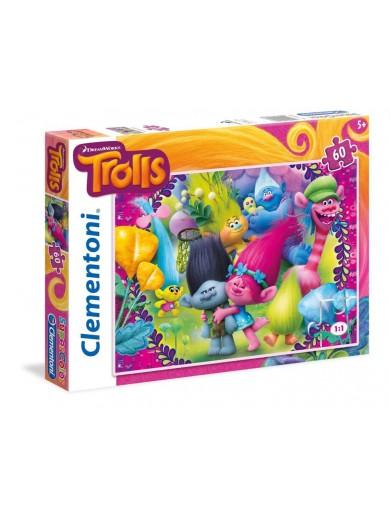 Puzzle 60 piezas Trolls de Dream Works. Puzzles clementoni 149637 Puzzles y Rompecabezas