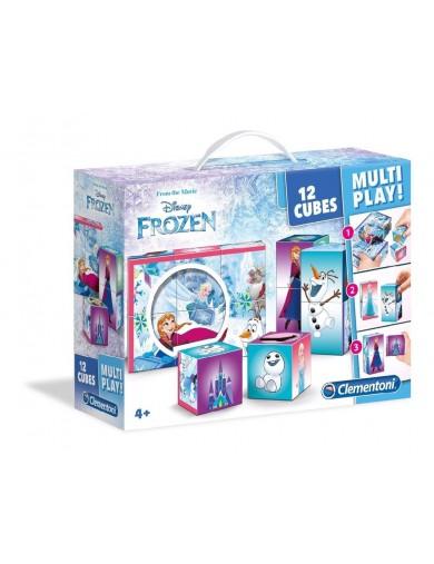 Frozen Puzzle 12 Cubos con Maletin Multi Play 153289 Puzzles y Rompecabezas