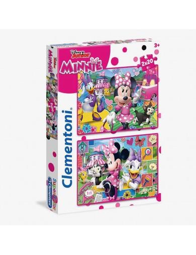 2 puzzles 20 piezas Minnie Mouse Disney. Puzzles clementoni 153296 Puzzles y Rompecabezas