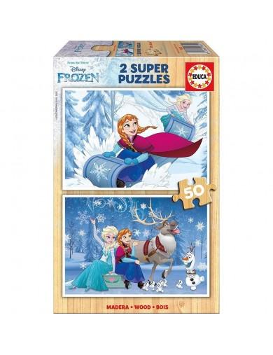 Frozen 2 puzzles 50 piezas Madera, Elsa, Anna, Olaf. Puzzles EDUCA 153508 Puzzles y Rompecabezas