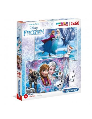 Frozen 2 puzzles 60 piezas, Elsa, Anna, Olaf. Puzzles clementoni 153303 Puzzles y Rompecabezas