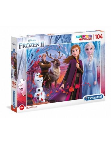Frozen 2, Puzzle 104 piezas. Elsa, Anna, Olaf, Sven y Kristoff. Puzzles Clementoni 272747 Puzzles y Rompecabezas