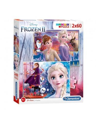 2 puzzles 60 piezas Frozen 2. Elsa, Anna, Olaf. Puzzles clementoni 153381 Puzzles y Rompecabezas