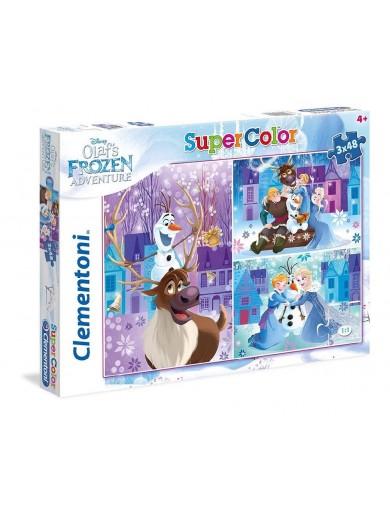 3 Puzzles 48 Piezas. Olaf's Frozen Adventure 153399 Puzzles y Rompecabezas