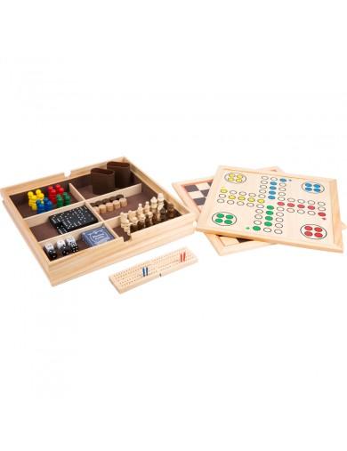 Juego de mesa. Coleccion de juegos de mesa 9 en 1. Juegos de mesa para familia. Jueguetes de madera. juegos clasicos 11277 Ot...