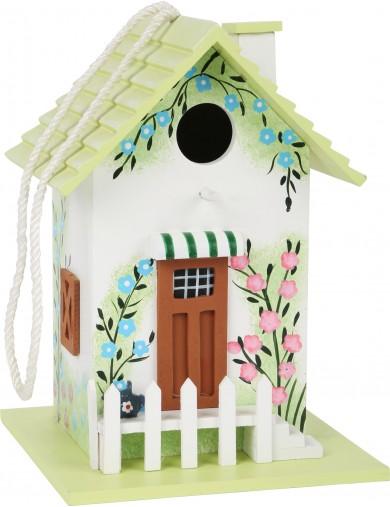 Casa para Pajaros de Madera Pintada, para el Jardin. Casas para pajaros balcon. Nido pajaro LEG 12050 Articulos de Jardinería