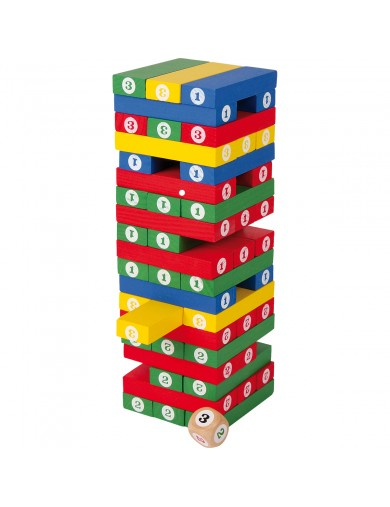 Divertido Juego bloques torre apilamiento de madera con numeros. Juegos de mesa. Jueguetes de madera. bloques de madera 5260 ...