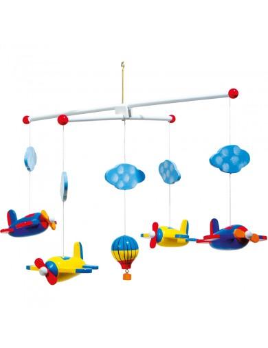 Movil colgante aviones habitacion bebe. Moviles colgantes de madera. Habitacion infantil LEG 7938 Decoración infantil