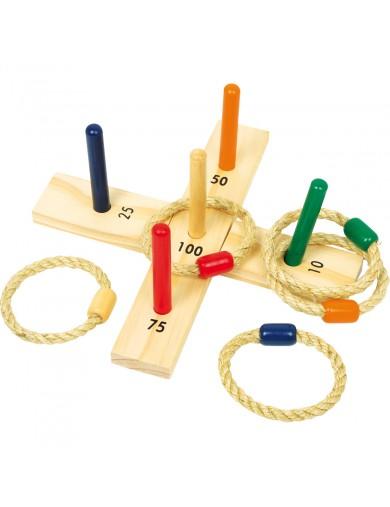 Juego de lanzamiento con aros. Juguetes de exterior. juguetes de madera. Juegos para niños. Juegos de jardin LEG 8236 Juegos ...