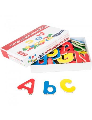52 Letras magneticas de madera. Imanes nevera. Imanes para el refrigerador, iman nevera letras abecedario LEG 1400 Primera In...