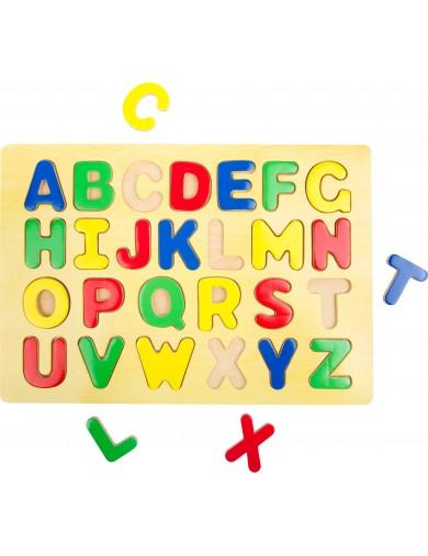 Puzzle de madera para insertar Letras. Puzzle infantil. juguetes bebes. Juguetes madera. Puzzle madera bebe LEG 7115 Puzzles ...