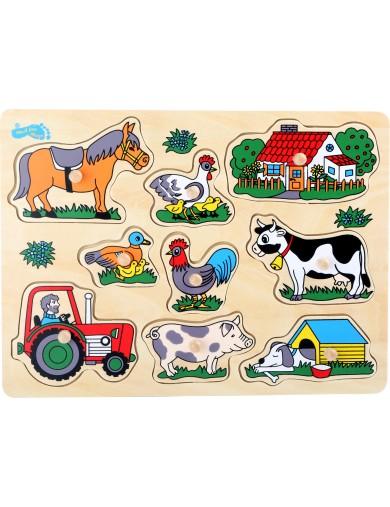Puzzle de madera para insertar granja. Puzzle infantil. juguetes bebes. Juguetes madera. Puzzle madera bebe LEG 1767 Puzzles ...