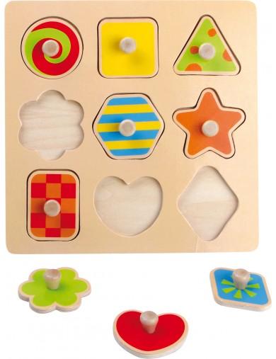Puzzle de madera para insertar Formas. Puzzle infantil. juguetes bebes. Juguetes madera. Puzzle madera bebe LEG 4754 Puzzles ...
