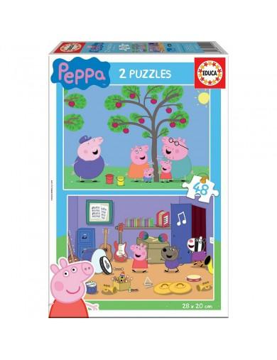 EDUCA, 2 Puzzles Peppa Pig 48 Piezas. Puzzles infantiles 143385 Puzzles y Rompecabezas