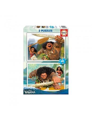 EDUCA, 2 Puzzles Vaiana 48 Piezas. Puzzles infantiles Disney 8412668169524 Puzzles y Rompecabezas