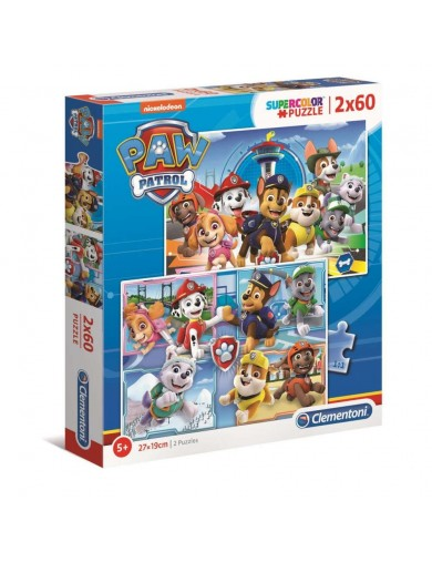 Clementoni, 2 Puzzles Patrulla canina 60 Piezas. Puzzles infantiles Paw Patrol 8005125216178 Puzzles y Rompecabezas