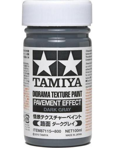 Pintura Efecto Pavimento Para Dioramas, Gris Oscuro (TAMIYA 87115). Texture Paint Pavement Effect Dark Gray TAMIYA 87115 Pega...