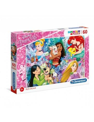Puzzle 60 piezas Princesas Disney. Puzzle clementoni Princess 269952 Puzzles y Rompecabezas