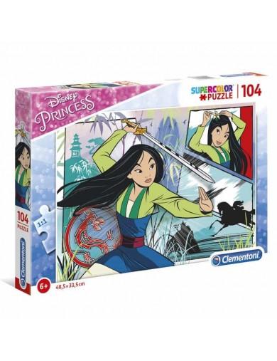Puzzle 104 piezas Mulan Disney. Puzzle clementoni Princess 271368 Puzzles y Rompecabezas