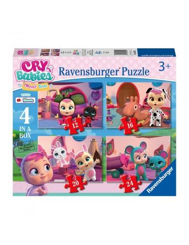 4 Puzzles progresivos Bebes llorones 12-16-20-24 piezas, Ravensburger Cry Babies RAVE30521 Puzzles y Rompecabezas