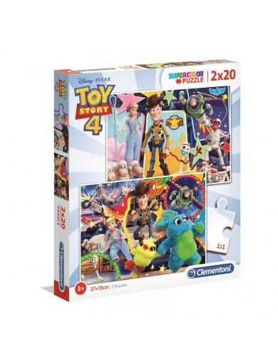 2 Puzzles 20 Piezas. TOY STORY 4. Puzzles Clementoni 247615 Puzzles y Rompecabezas