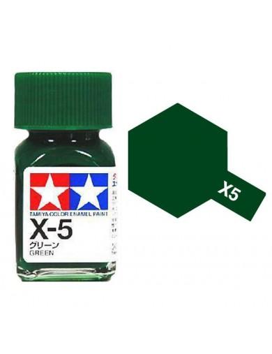 Pintura Esmalte X-5 Verde (TAMIYA 80005). Enamel Paint X-5 Green gloss TAMIYA 80005 Pinturas Modelismo