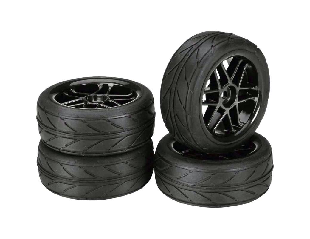 Ruedas RC 1/10 con Neumáticos 26MM (ABSIMA 2510003) ABSIMA 2510003
