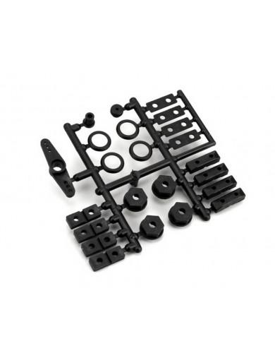 Hexágonos rueda y partes Servo para V-ONE, FW5T (KYOSHO VZ010). Drive Washer Set Servo KYOSHO VZ010 Recambios FW-05, FW-06