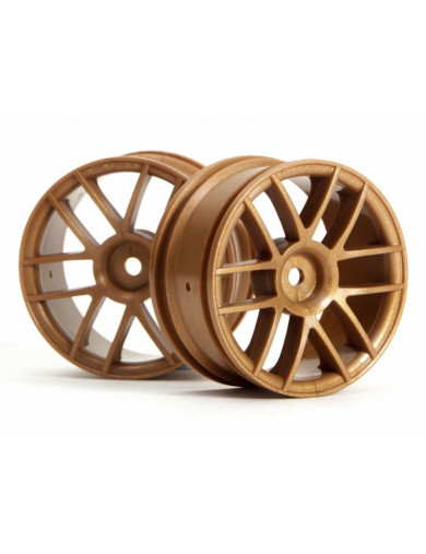 Llantas RC 1/10 HPI Split 6 Gold 26mm (0mm OFFSET) (HPI 3798) HPI 3798