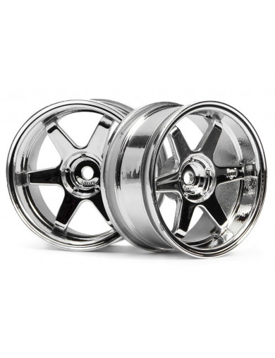 Llantas RC 1/10 HPI TE37, Cromadas 26mm (6mm OFFSET) (HPI 3847). 1/10 Rc Wheels HPI 3847