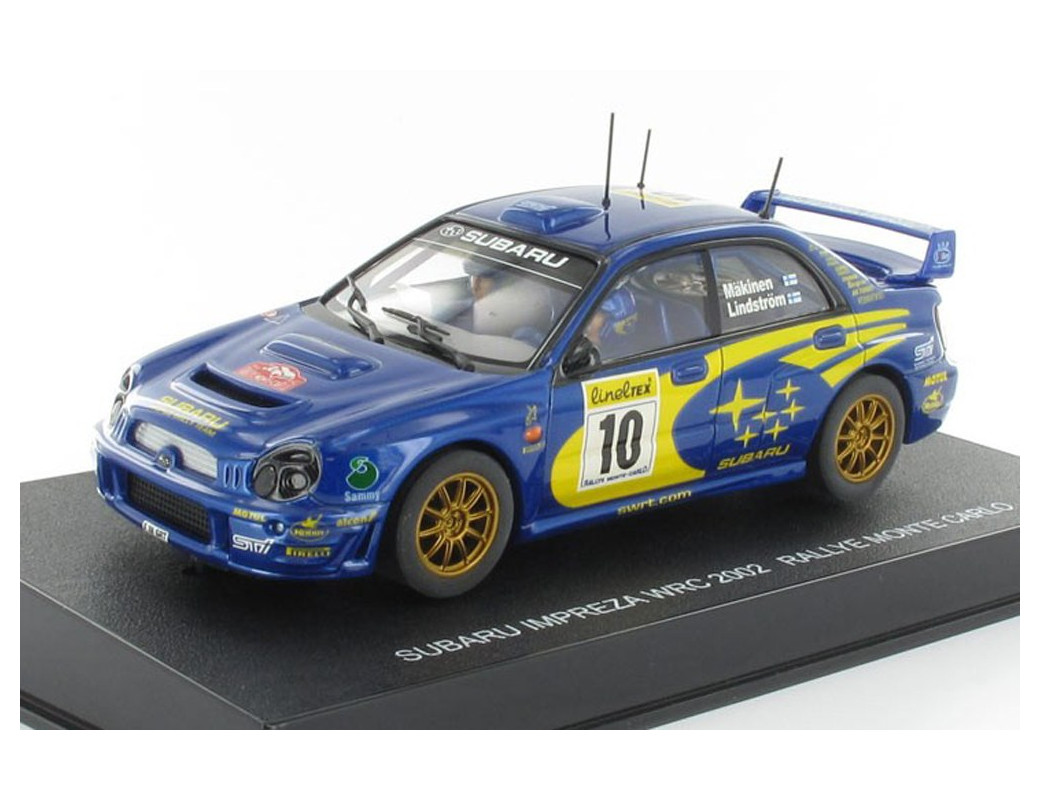 Subaru Impreza WRC'02, (Makinen/Lindstrom) Coche Slot (AUTOART 13002). Slot Car AUTOART 13002