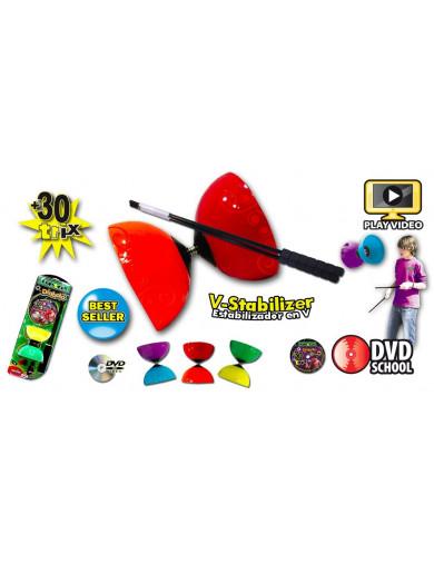 Diabolo, Juguete para malabares (EOLO FX004) EOLO FX004 Juegos al Aire Libre