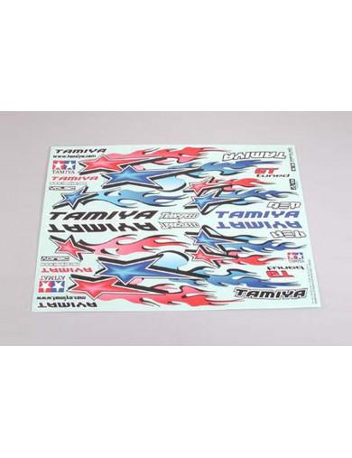 Pegatinas, vinilos para coches rc 1/10, Star and Fire (TAMIYA 53839) TAMIYA 53839 Kit de Luces y vinilos RC