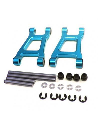 Trapecios Superiores traseros en Aluminio Tamiya TT-01, TT-01R, TT-01E (YEAH RACING TT-124BU). Aluminum Rear Upper Arm Set YE...