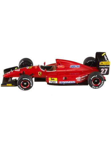 Ferrari F1 F92 A GP España 92 (Jean Alesi). Coche Escala 1/43 (HOT WHEELS T6281). Auto Diecast HOT  WHEELS T6281