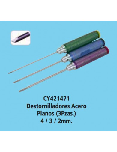Juego destornilladores Planos (CYCLONE 421471) CYCLONE 421471 Herramientas Modelismo